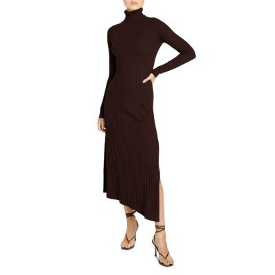 A.L.C. Clothing Emmy Asymmetric Sweater Dress for women Chocolate Trends CLLM520