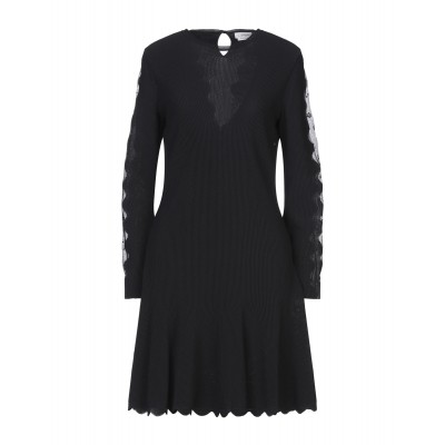 ALEXANDER MCQUEEN Short dress evening Black for girl Fitted Discount For Sale FJYJX163