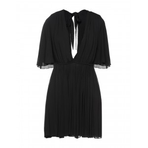 SAINT LAURENT Evening dress evening Black for Lady Trends 2021 Cut Off in store IN3NO9241