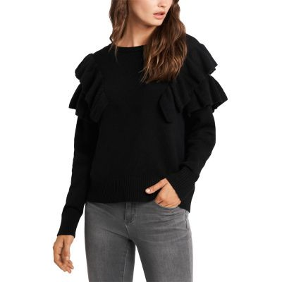 1.STATE Ruffled Sweater for girl Rich Black 2x JFHJ827