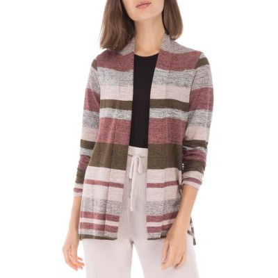 B Collection by Bobeau Striped Cardigan Girls Olive Combo size xs Top Sale URYP332