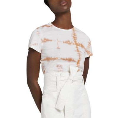 A.L.C. Bambina Cotton Printed Tee for girl Desert Bei On Line CXJL204