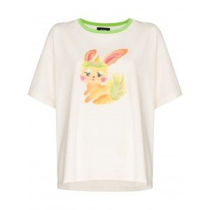 We11done bunny-print crew-neck T-shirt size 18 for Lady Near Me FZHR137