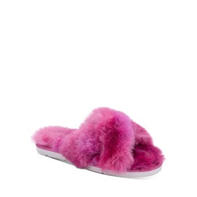 Dolce Vita Women Shoes Women's Pillar Faux Fur Slippers Hot Pink with good arch support HPZW328