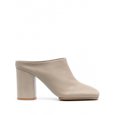 Acne Studios square-toe mid-heel mules shoes and Slides Women shoes SSBZ943