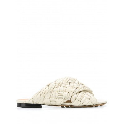Bottega Veneta Intrecciato cross-strap mules shoes wide width for girl shoes on clearance FWRS205