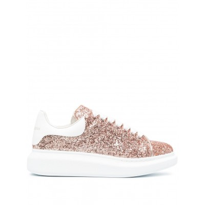 Alexander McQueen shoes Oversized glitter sneakers shoes for women Fitted AHUT180