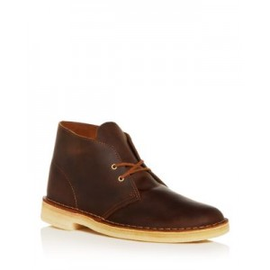 Clarks Men's Leather Chukka Boots Shoes Beeswax MUVO746