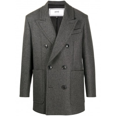 AMI Paris Outwear double-breasted short coat 3xl for Men ZVFE862