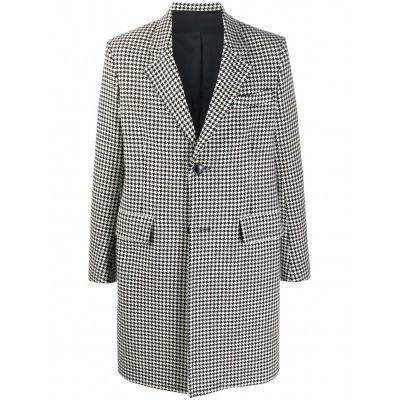 AMI Paris Outwear houndstooth single-breasted coat Men's For Sale IURD473