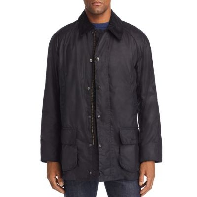 Barbour Clothes Bristol Waxed Jacket for Male Navy plus size Cheap OSCH459