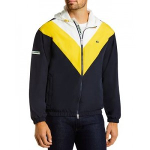 Lacoste Outwear Colorblocked Hooded Jacket for Men Abyss e fashion RSZR320