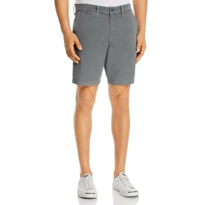 7 For All Mankind Clothing Go-To Cotton Stretch Twill Classic Fit Chino Shorts Men's Medium Gray 44 inch waist For Sale VRHM742