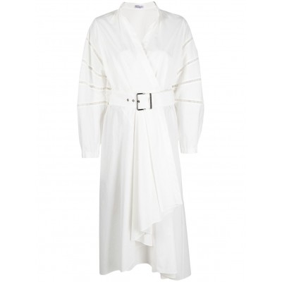 Brunello Cucinelli belted wrap-style mid-length dress queen for girl ZFBN857