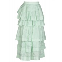 ERMANNO SCERVINO Maxi Skirts express Light green clothing for girl new in shopping YLL083644