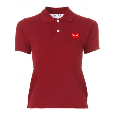 Comme Des Garçons Play logo embroidered cropped polo shirt for girl Comfort GZXC266