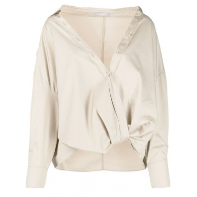12 STOREEZ exposed shoulder button-up shirt oversized for women SFSX159