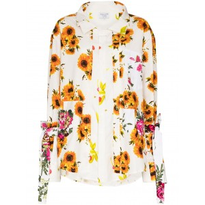 Collina Strada floral print button-up shirt oversized for girl Casual DTRZ724