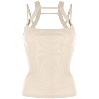 Dion Lee cut-out cotton tank top loose fitting for Lady lifestyle PXFS768