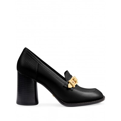Gucci shoes chain-detail mid-heel moccasins for women shoes IJBM957