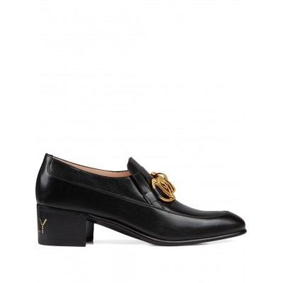 Gucci shoes Women's leather Horsebit chain loafer size 7 Girls shoes BIFE687