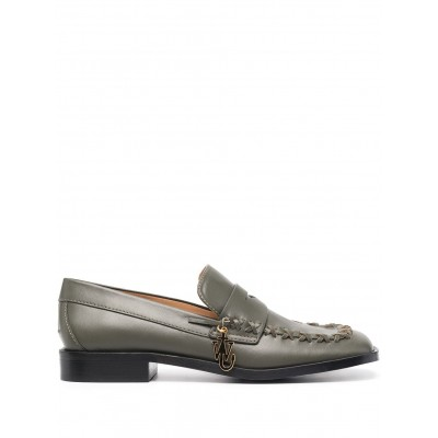 JW Anderson shoes flat stitch-detail loafers Girls shoes ATCR156