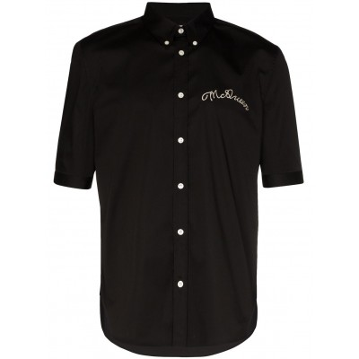 Alexander McQueen Clothing logo embroidered shirt xl for Young Men DHWM401