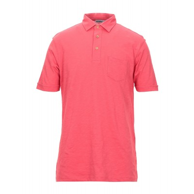 ANDREA FENZI Polo shirt Red Tops for Male Discount Hot Sale 1FHJ24705