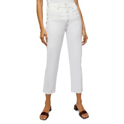 7 For All Mankind Clothing Cropped Straight Leg Jeans for girl Clean White outlet HOOT473