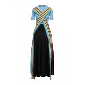 LOEWE Long dress in tall sizes Azure for Lady in new look CBQ678791