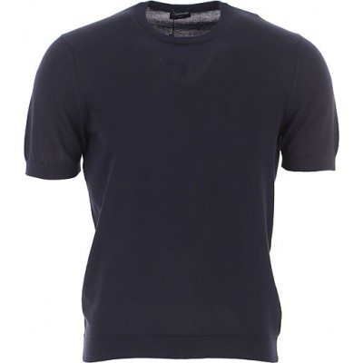 Drumohr T-Shirt Clothing Midnight Blue Business Casual on sale online for Men XSQN125