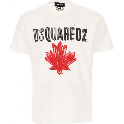 Dsquared2 Tops T-Shirts White 4xl New Arrival For Sale for Men WFWI150