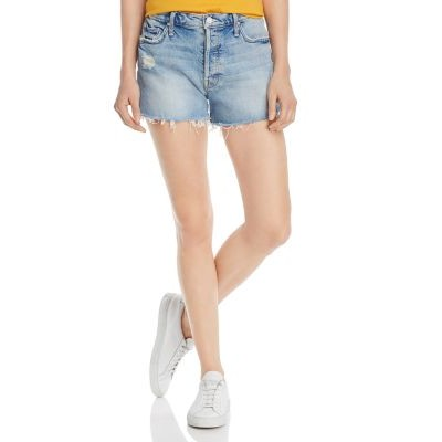 MOTHER Clothing The Tomcat Distressed Denim Shorts in True Confessions Girls True Confessions in tall sizes Hot Sale HHZQ554